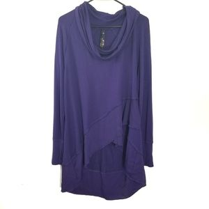 Melissa McCarthy seven purple cowl neck sweater 0x